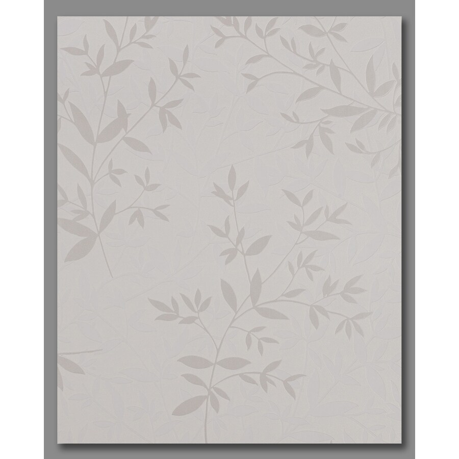 Superfresco Easy Pearl White/Mica Vinyl Textured Ivy/Vines Wallpaper
