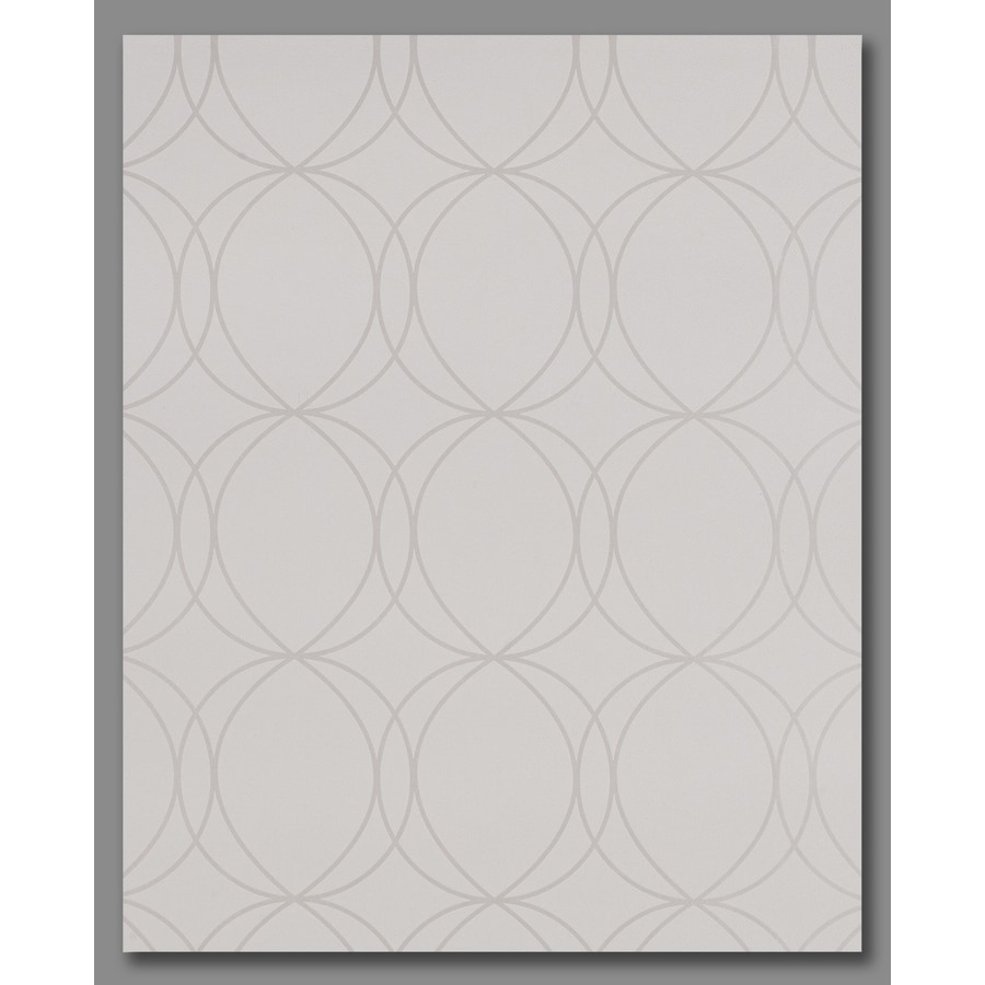 Graham & Brown Pearl White/Mica Vinyl Textured Geometric Wallpaper