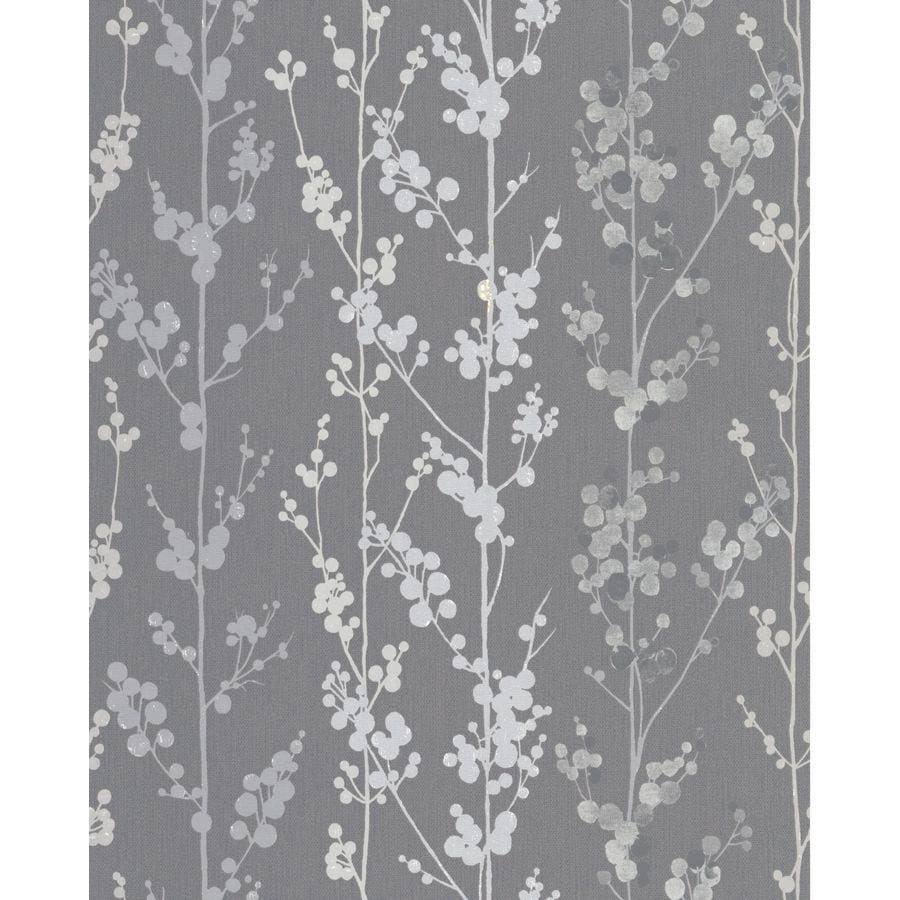Superfresco Easy Majestic Grey Paper Textured Ivy/Vines Wallpaper