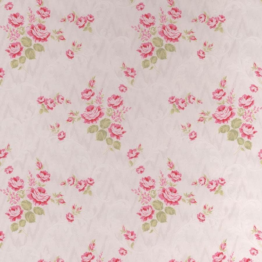 Graham & Brown Bohemia Summer Vinyl Textured Floral Stripe Wallpaper