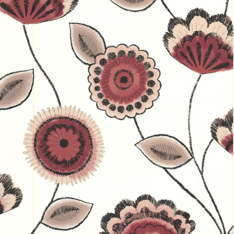 Superfresco Red Paper Floral Wallpaper