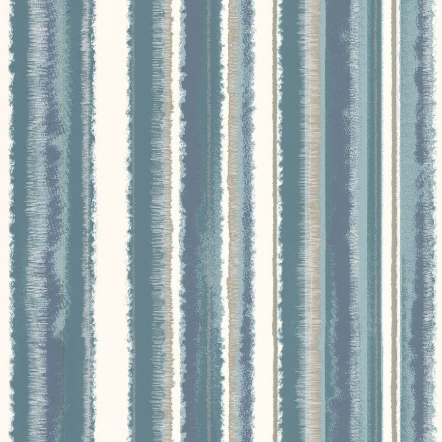 Graham & Brown Bohemia Blue Vinyl Textured Stripes Wallpaper