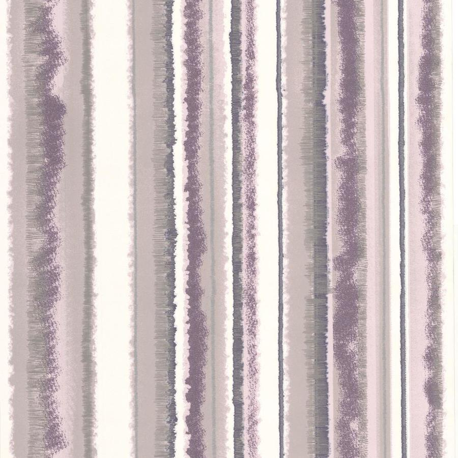 Graham & Brown Bohemia Purple Vinyl Textured Stripes Wallpaper