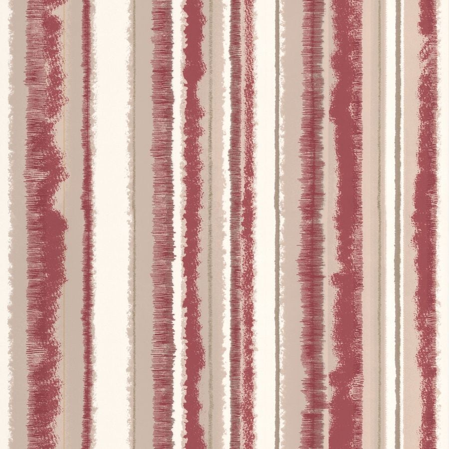 Superfresco Bohemia Red Vinyl Textured Stripes Wallpaper