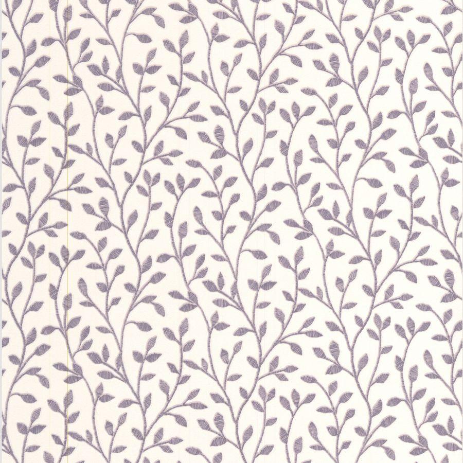 Superfresco Bohemia Purple Vinyl Textured Floral Wallpaper