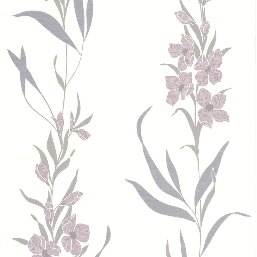Superfresco Easy Eden Purple Vinyl Textured Floral Wallpaper