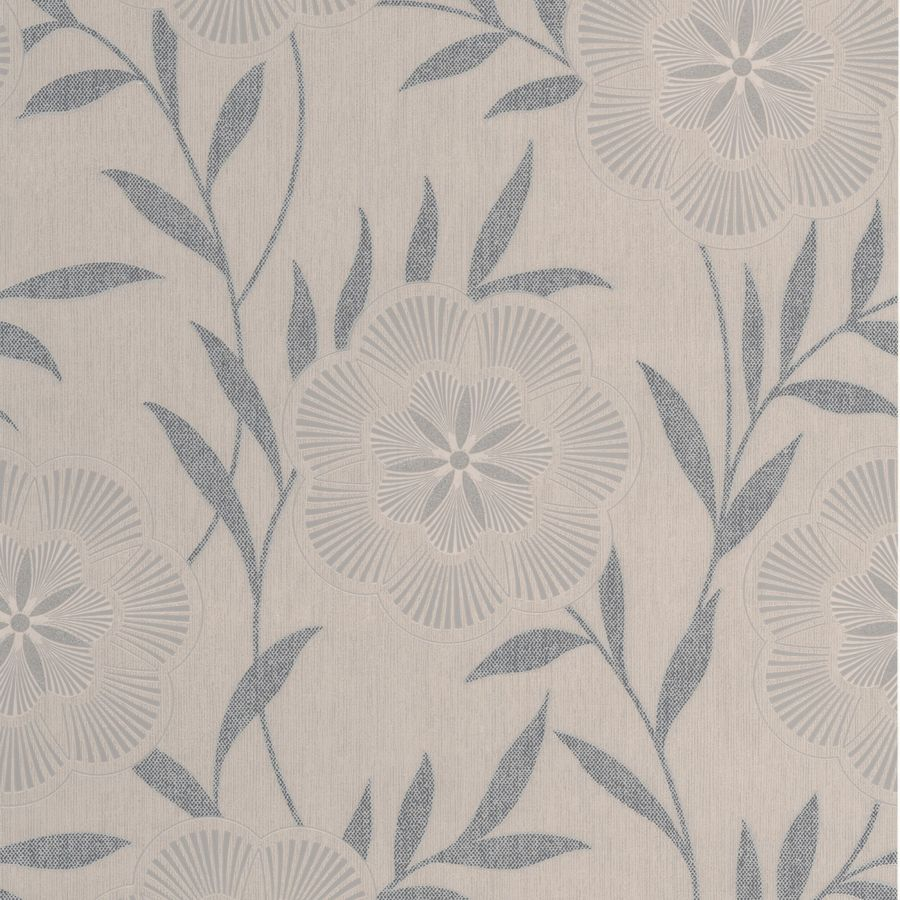 Superfresco Easy Eden Brown Vinyl Textured Floral Wallpaper