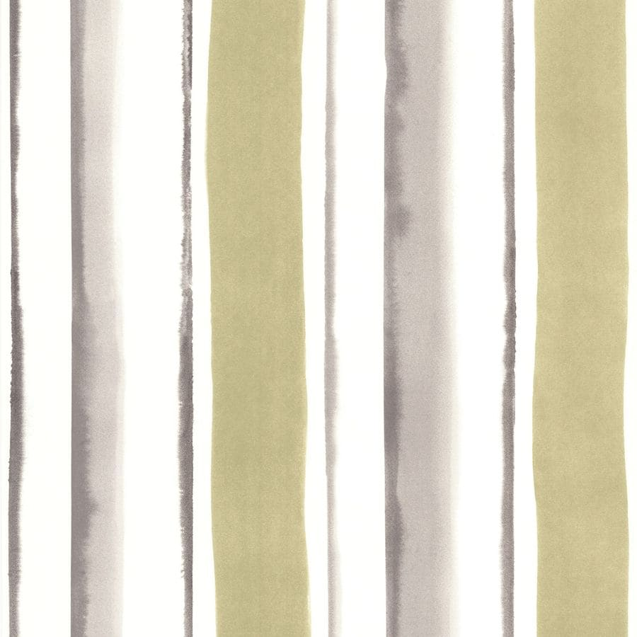 Shop superfresco easy green paper stripes wallpaper at for Wallpaper lowe s home improvement