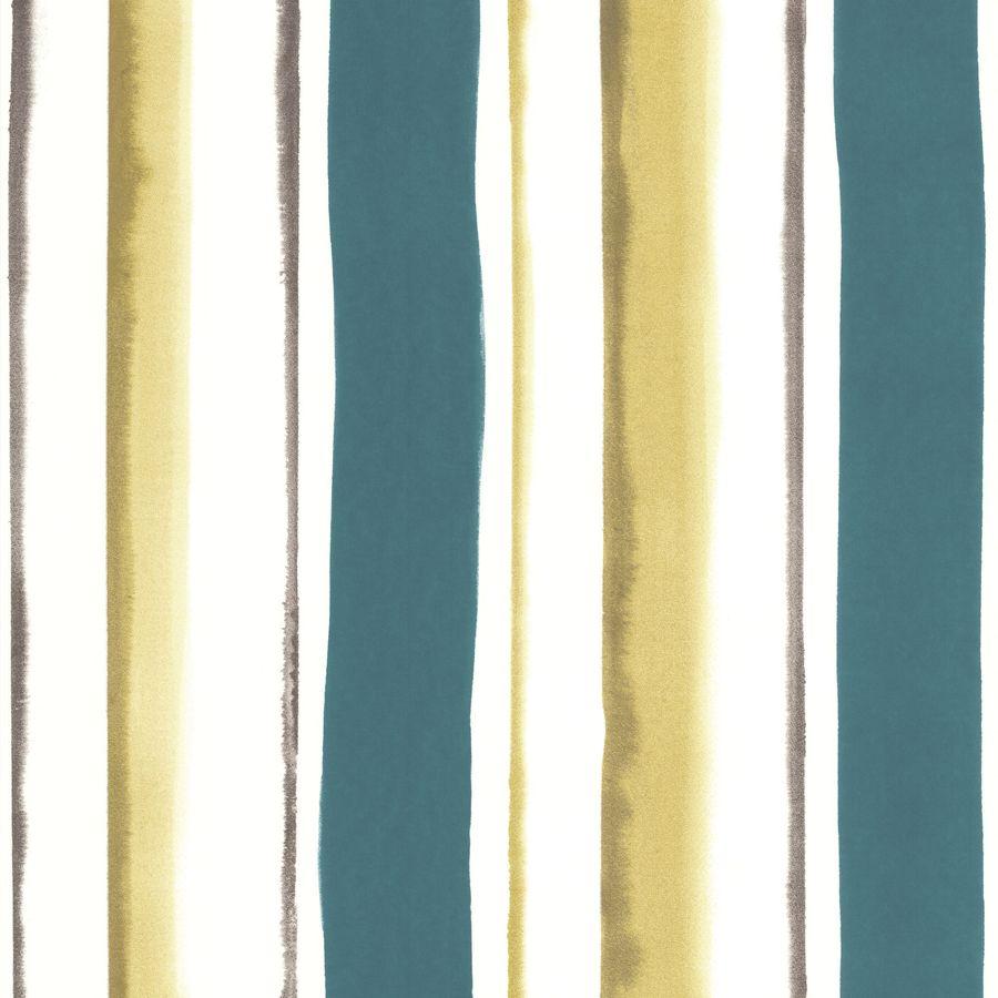 Superfresco Easy Eden Blue Vinyl Textured Stripes Wallpaper