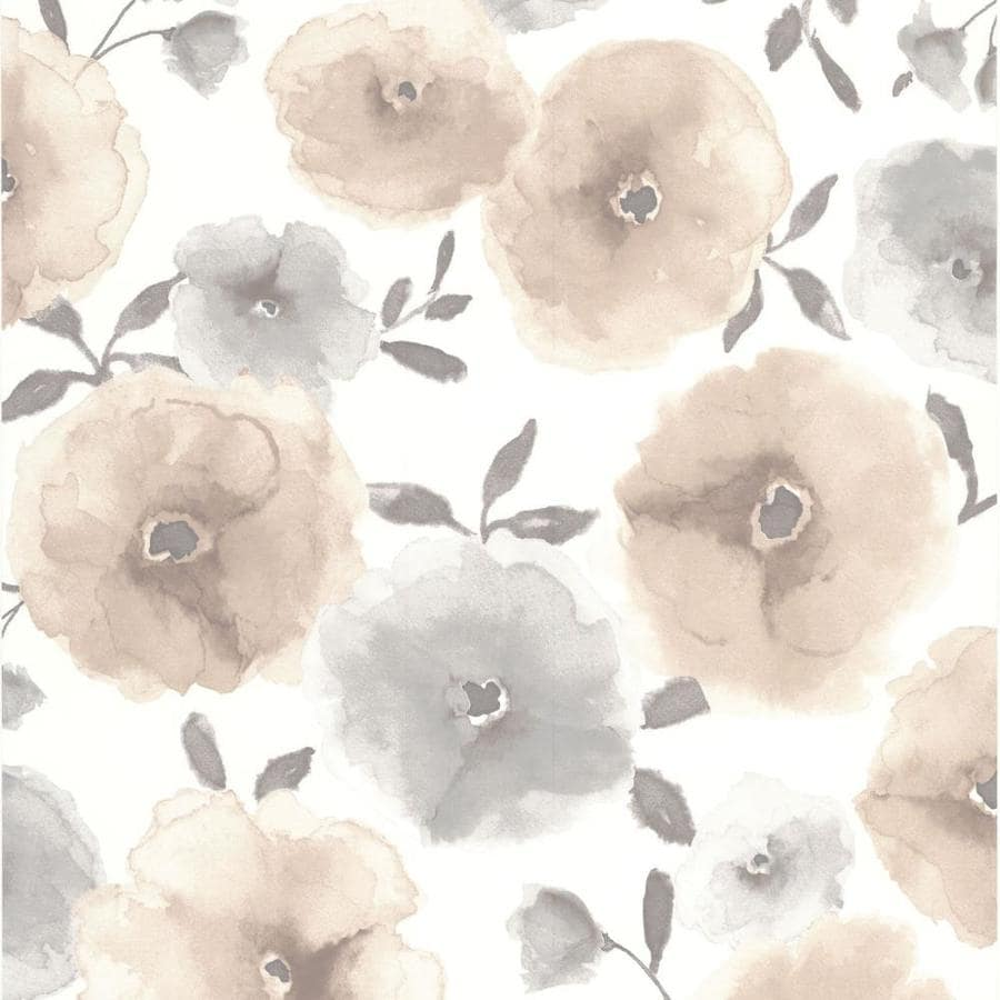 Graham & Brown Brown Paper Floral Wallpaper