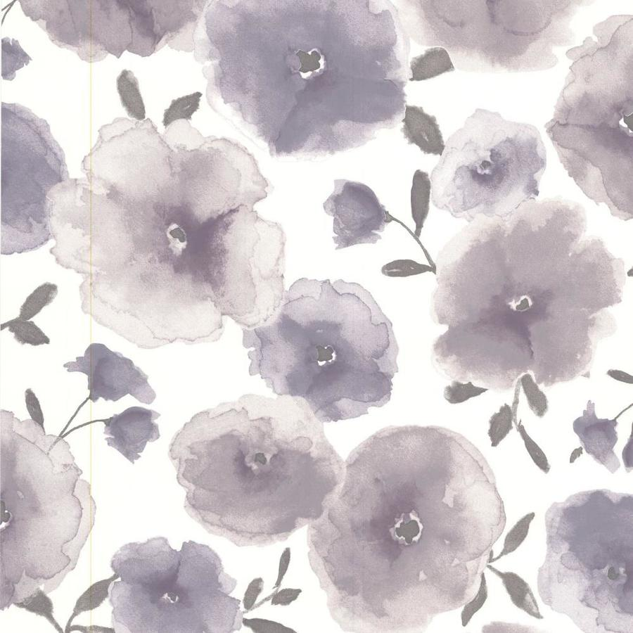 Superfresco Easy Eden Purple Vinyl Textured Floral Wallpaper