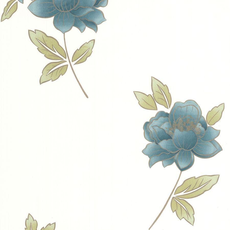 Graham & Brown Blue Paper Floral Wallpaper