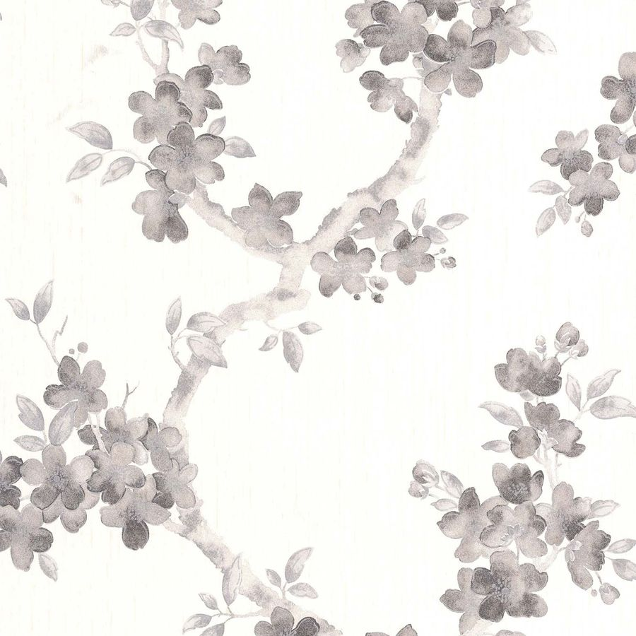 Graham & Brown White Paper Floral Wallpaper