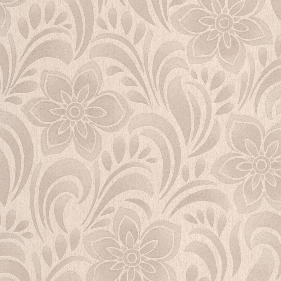 Graham & Brown Botanica Brown Vinyl Textured Floral Wallpaper