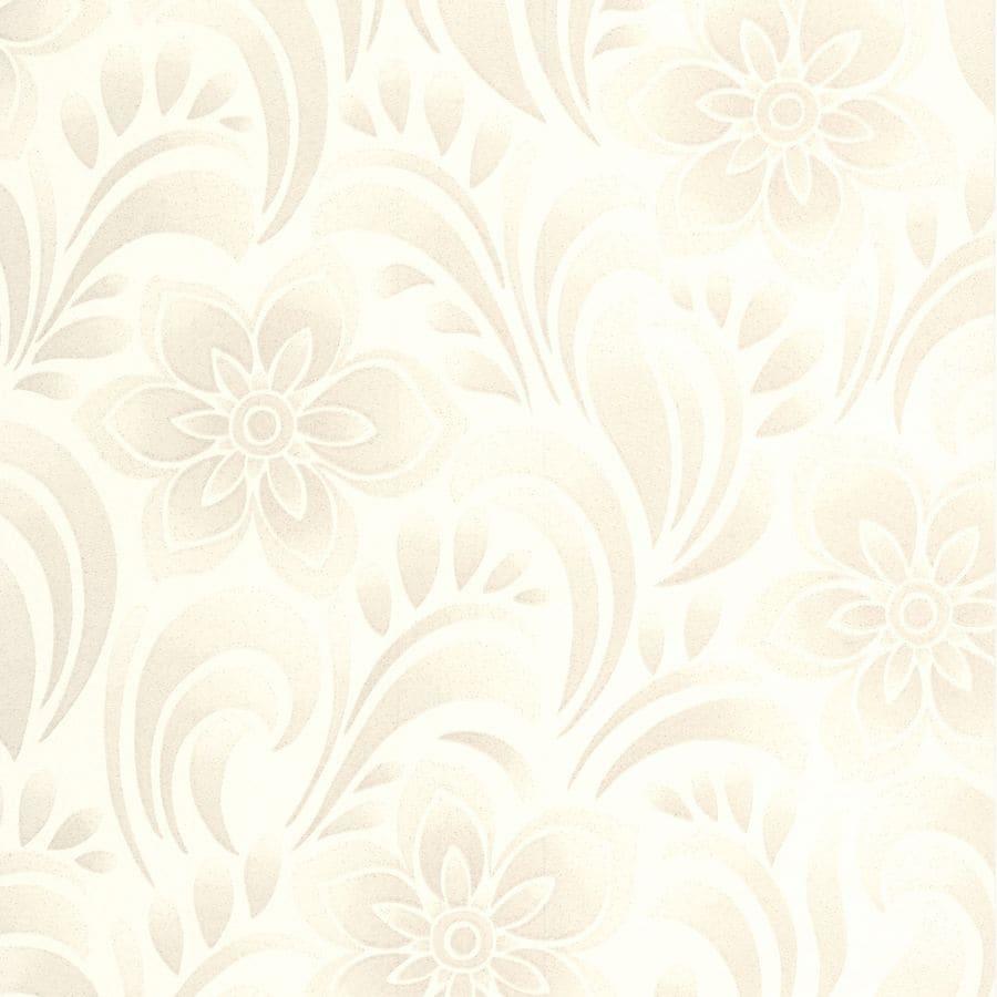 Graham & Brown Botanica White Vinyl Textured Floral Wallpaper