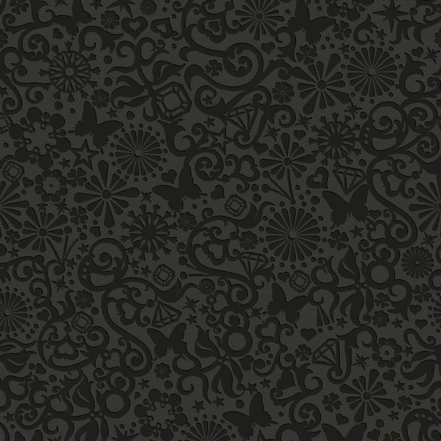 Graham & Brown Marcel Wanders Black Vinyl Textured Abstract Wallpaper