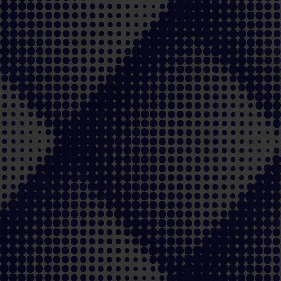 Graham & Brown Marcel Wanders Blue Flock Textured Geometric Wallpaper