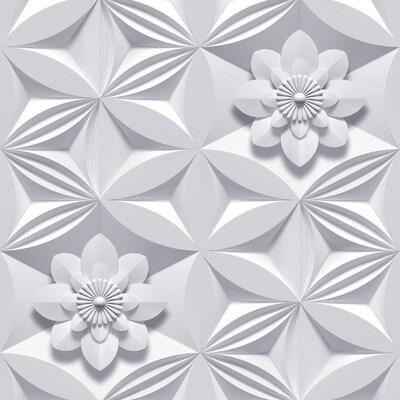 Marcel Wanders 56 Sq Ft Grey Paper Floral Wallpaper