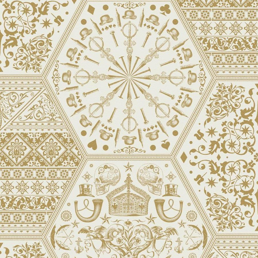 Graham & Brown Marcel Wanders Gold Vinyl Textured Geometric Wallpaper