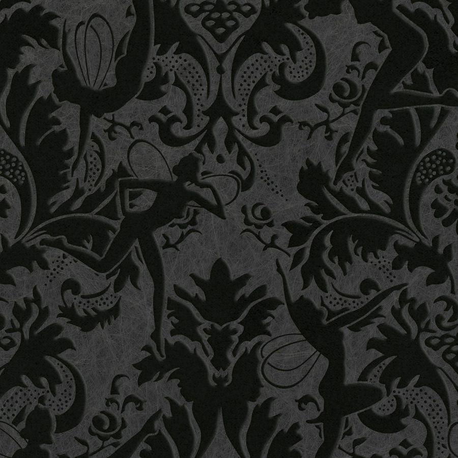 Graham & Brown Marcel Wanders Black Flock Textured Damask Wallpaper