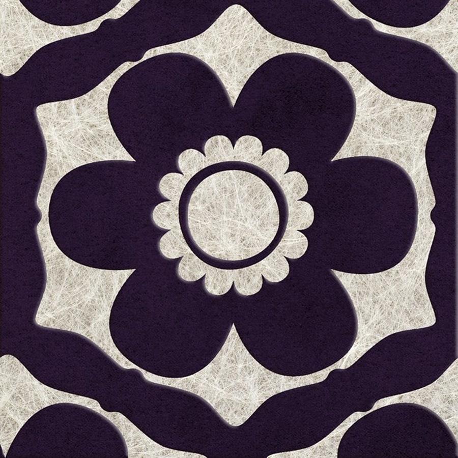 Graham & Brown Barbara Hulanicki Purple Flock Textured Floral Wallpaper