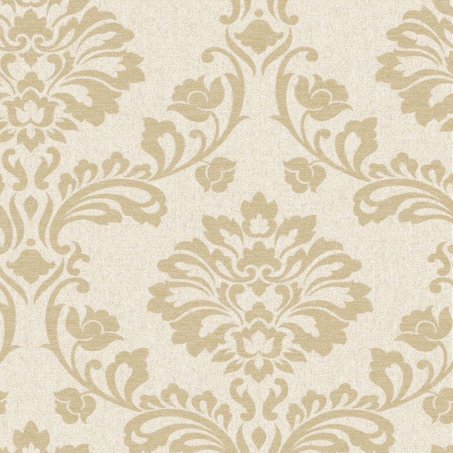 Graham & Brown Midas Gold Vinyl Textured Damask Wallpaper