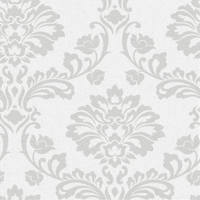 Graham Brown Midas 56 Sq Ft White Vinyl Textured Damask