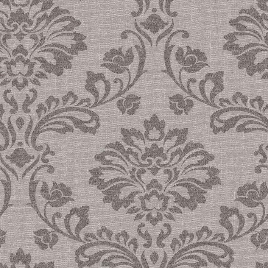 Graham & Brown Midas Brown Vinyl Textured Damask Wallpaper