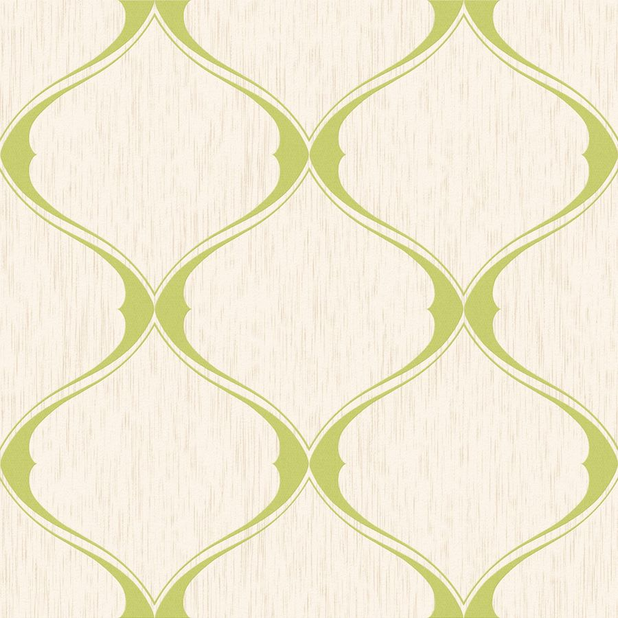 Graham & Brown Green Paper Geometric Wallpaper