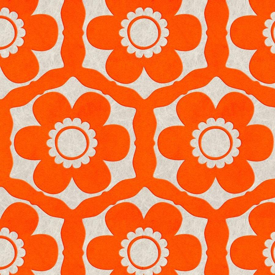 Graham & Brown Orange Paper Floral Wallpaper