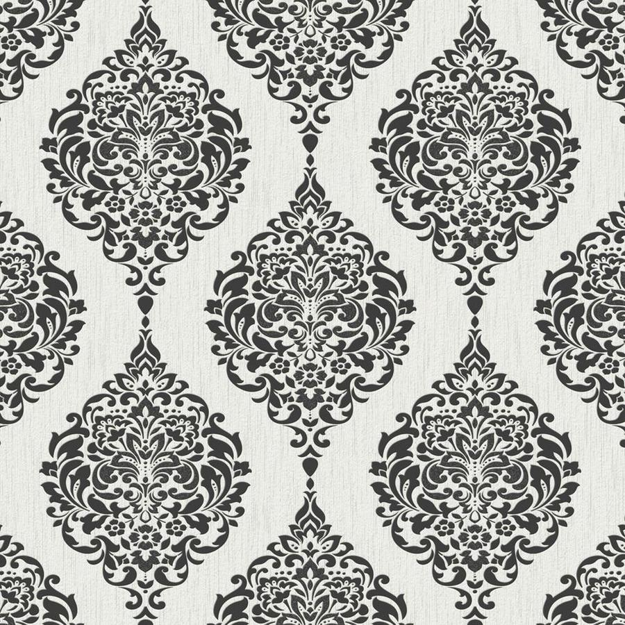 Graham & Brown White Paper Damask Wallpaper