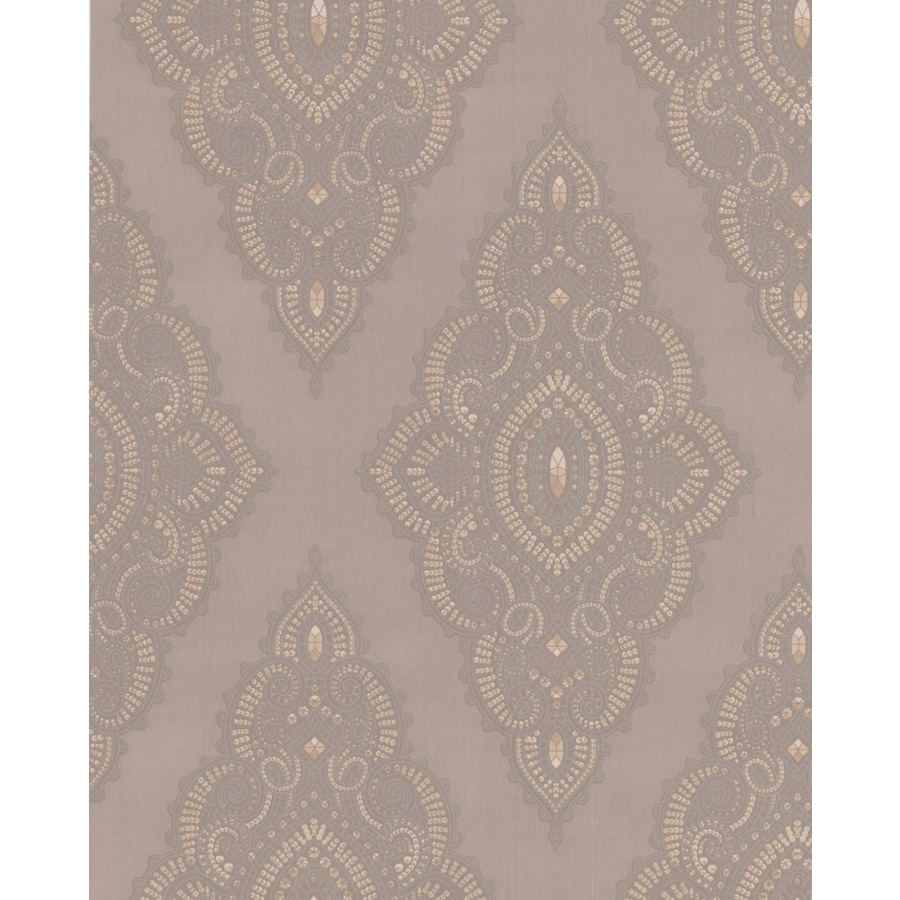 Allen Roth Essentials Beige Paper Textured Geometric Wallpaper