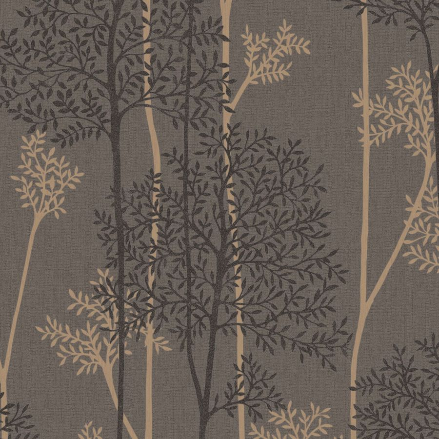 Graham & Brown Innocence 56-sq ft Chocolate/Bronze Vinyl Textured Floral Wallpaper