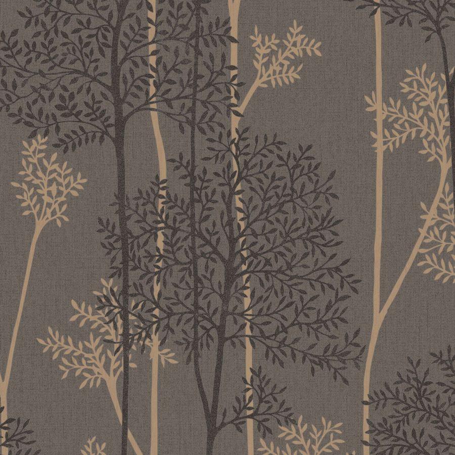 Graham Brown Innocence 56 Sq Ft Chocolate Bronze Vinyl Textured Floral Wallpaper