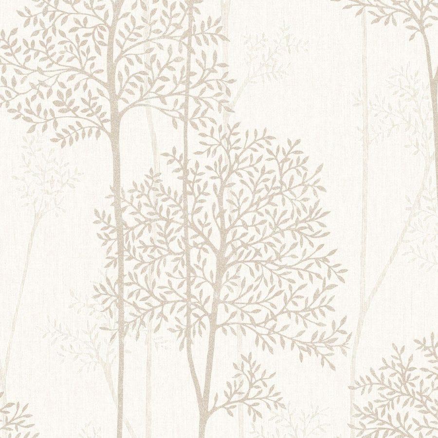 Graham & Brown Innocence Cream/Gold Vinyl Textured Floral Wallpaper