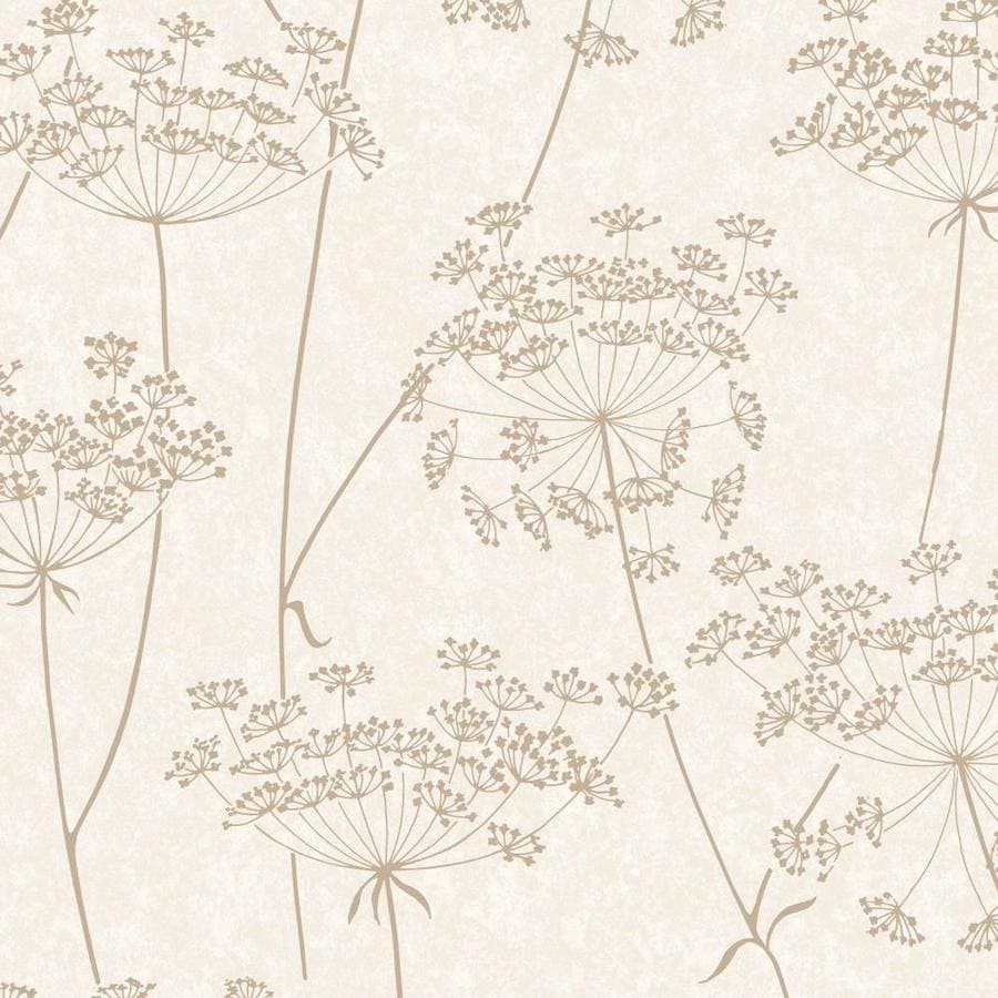 Graham & Brown Innocence Natural Vinyl Textured Floral Wallpaper