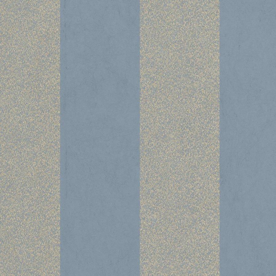 Graham & Brown Artisan Blue Paper Textured Stripes Wallpaper