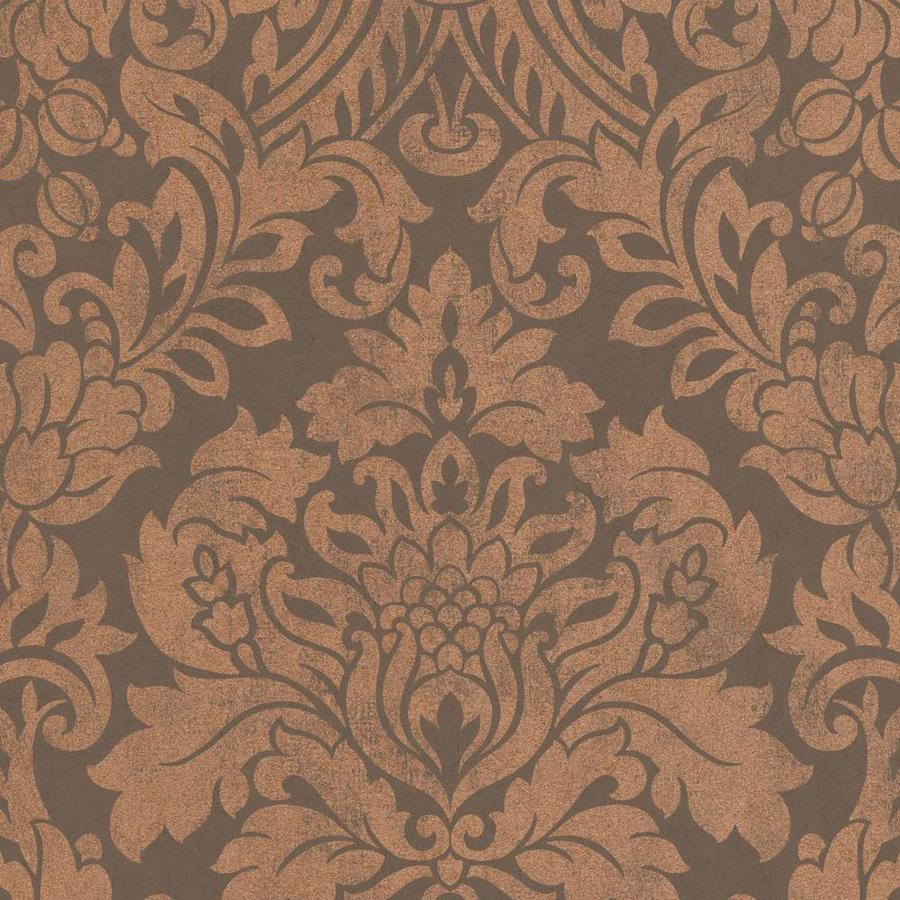 brown on brown damask wallpaper - photo #17