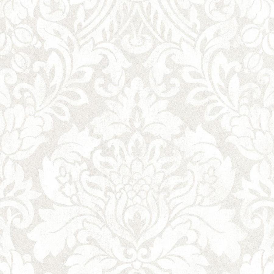 Graham & Brown Artisan Pearl Paper Textured Damask Wallpaper