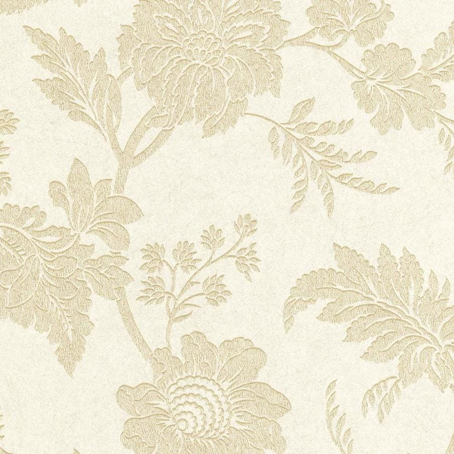 Graham & Brown Artisan Oyster Paper Textured Floral Wallpaper