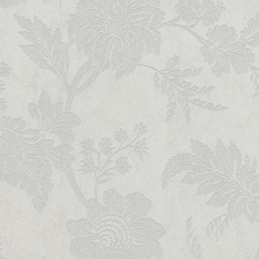 Graham & Brown Artisan Dove Paper Textured Floral Wallpaper