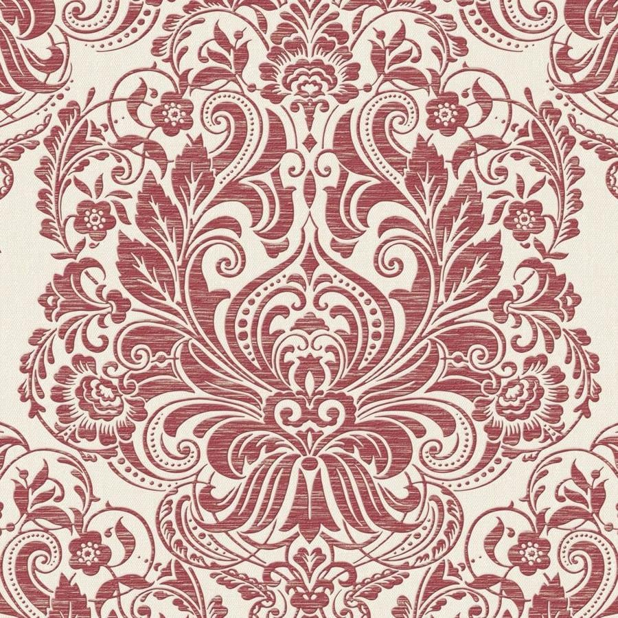 Graham & Brown Palais 56-sq ft Red Vinyl Textured Damask  Wallpaper