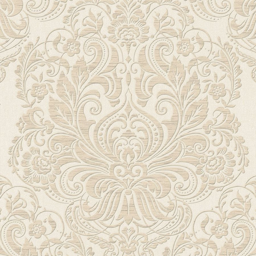 Graham & Brown Neutral Vinyl Damask Wallpaper