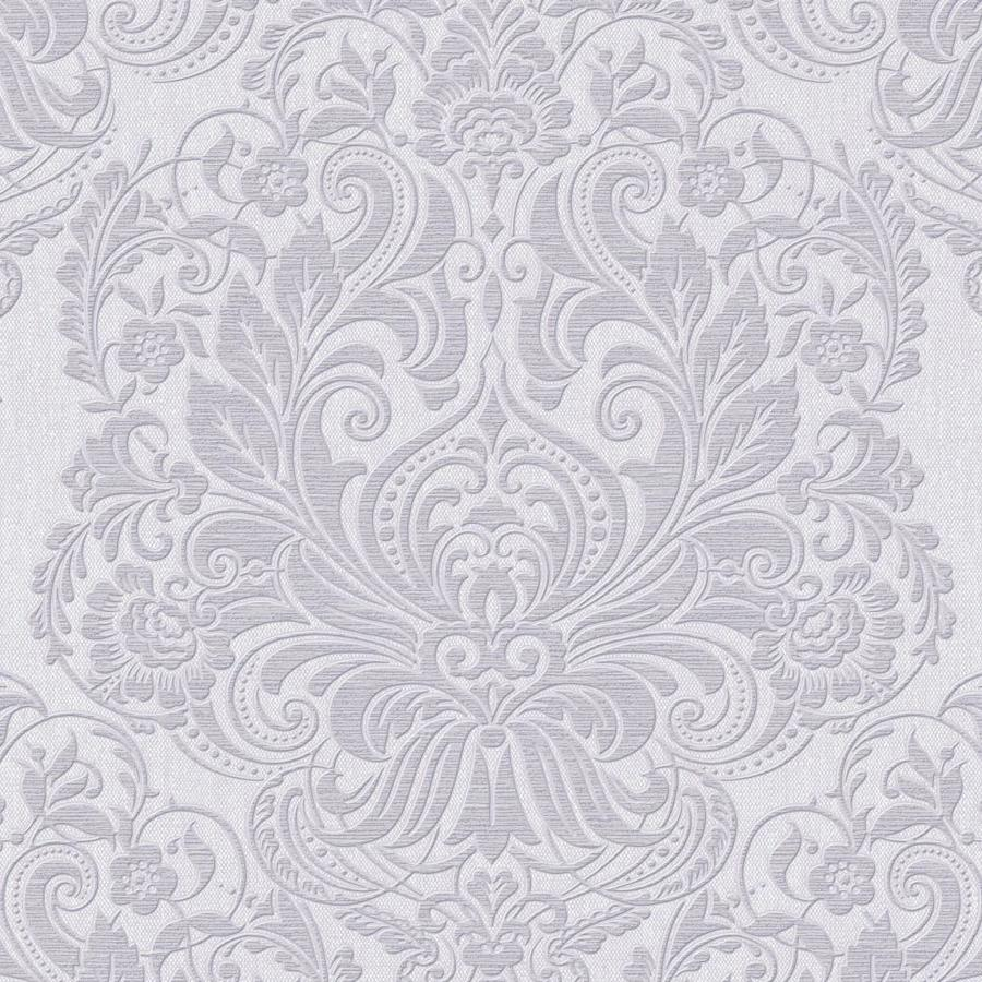 Graham & Brown Palais Lilac Vinyl Textured Damask Wallpaper