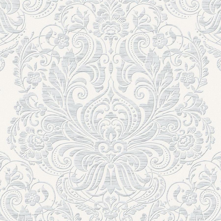 Graham & Brown Palais Gray Vinyl Textured Damask Wallpaper