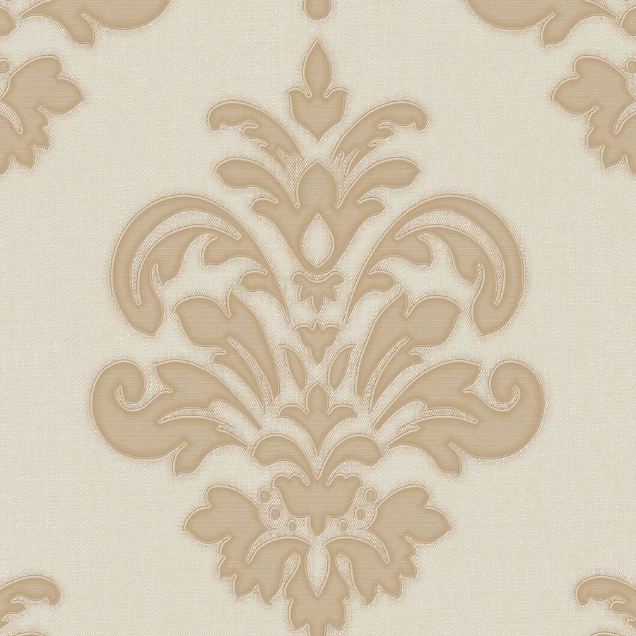 Graham & Brown Palais Gold/Neutral Vinyl Textured Damask Wallpaper