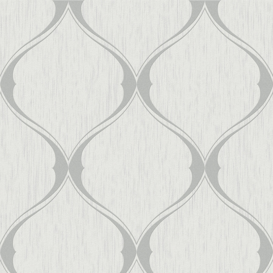 Shop allen roth timeless gray vinyl textured geometric for Gray vinyl wallpaper