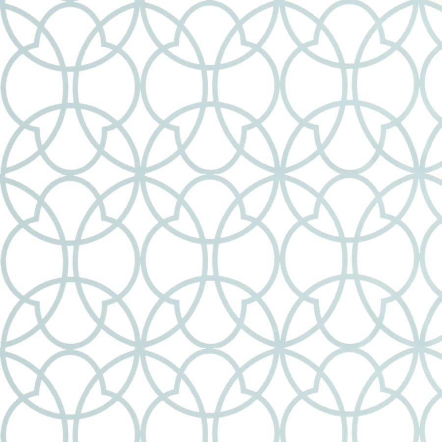 shop allen + roth timeless aqua vinyl textured geometric wallpaper