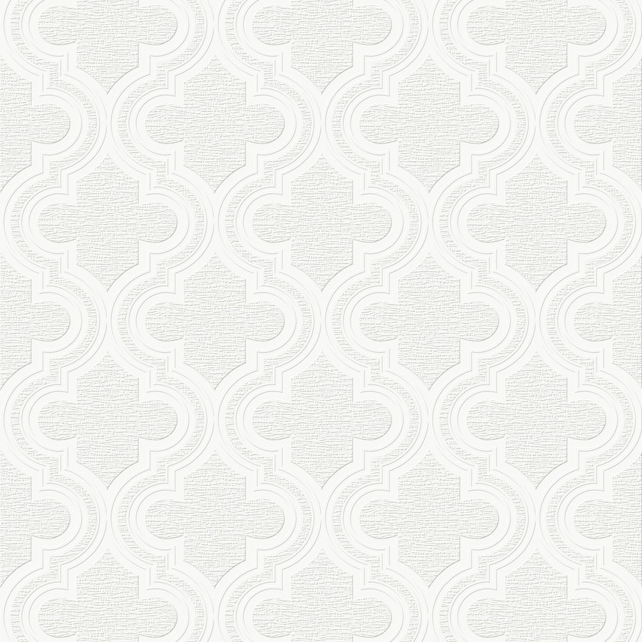 Shop graham brown eclectic white vinyl paintable for Vinyl wallpaper for walls