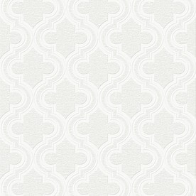 Superb Graham U0026 Brown Eclectic White Vinyl Paintable Textured Geometric Wallpaper